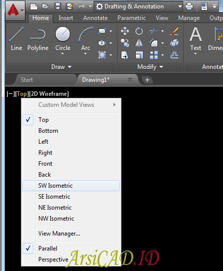 Langkah 4 Membuat Teks Atau Tulisan 3D Di AutoCAD