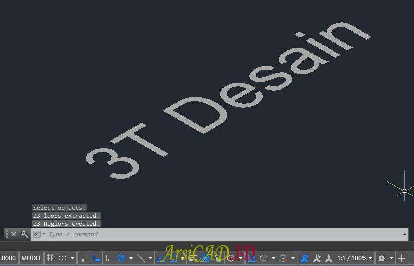 Langkah 6 Membuat Teks Atau Tulisan 3D Di AutoCAD