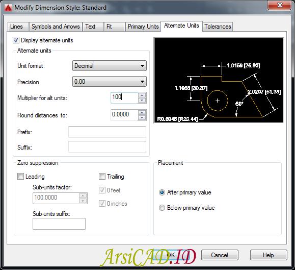 Langkah 3 Membuat Dimensi Ganda Dalam Satu Unit Dimensi Pada AutoCAD