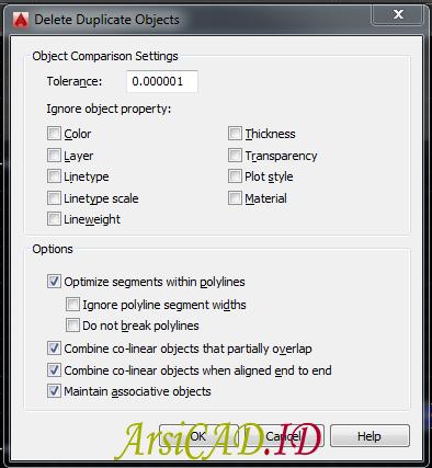 Langkah 2 Cara Menghapus Objek Yang Bertumpuk Banyak Di AutoCAD Dengan Overkill