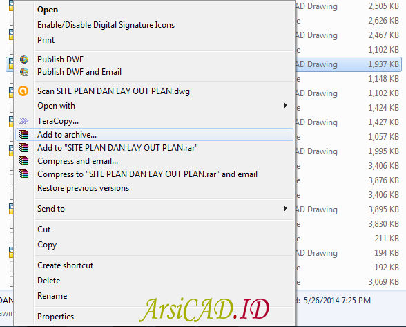 Langkah 1 Cara Melindungi File DWG AutoCAD Dengan Password
