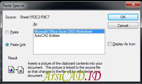 Langkah 3 Import dan Eksport Table Dari Autocad ke Excel