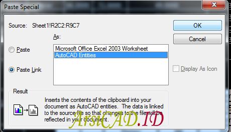 Import dan Eksport Table Dari Autocad ke Excel As Entity