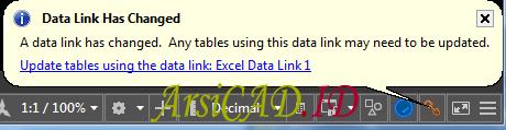 Data Link Import dan Eksport Table Dari Autocad ke Excel