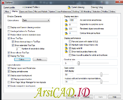 Langkah 2 Merubah Warna Background AutoCAD pada Lembar Kerja