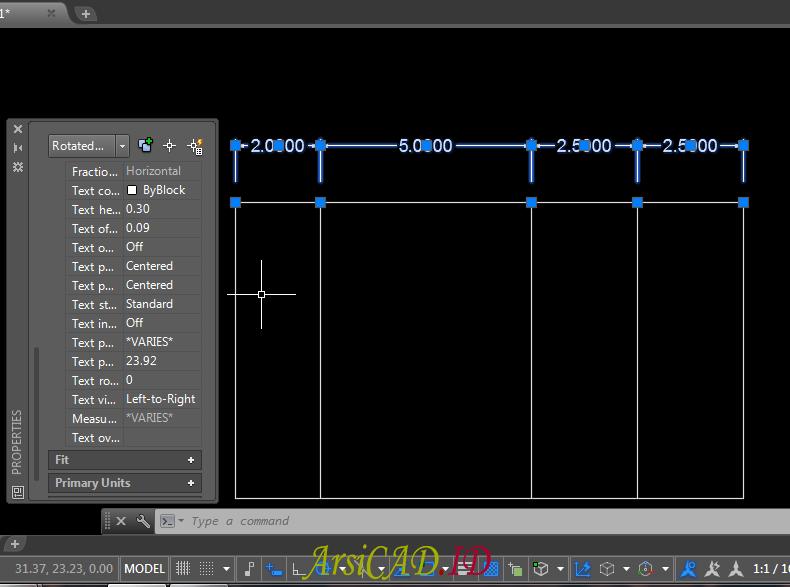 Langkah 4 Mengedit Text Dan Arrow Dimensi Style Dengan Cepat Di AutoCAD