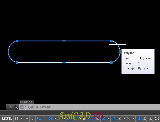 Langkah 6 Mengkonversi Multiple Objek Menjadi Single Polyline Di AutoCAD