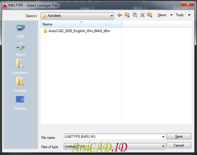 Langkah 3 Cara Membuat Custom Linetype AutoCAD Dengan Teks Didalamnya