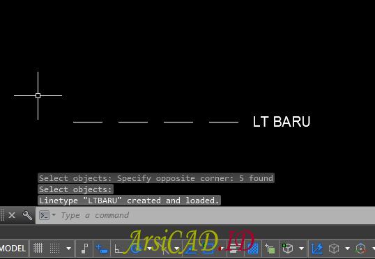 Langkah 9 Cara Membuat Custom Linetype AutoCAD Dengan Teks Didalamnya