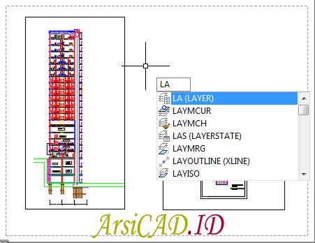 Langkah 1 Menghilangkan Border (Garis Pembatas) Viewport Layout di AutoCAD