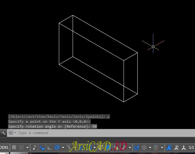 Catatan 1 Merotasi Atau Memutar Objek 3D Di AutoCAD