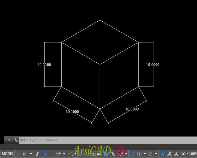Contoh Kasus Membuat Dimensi Isometric Pada Drafting 2D AutoCAD