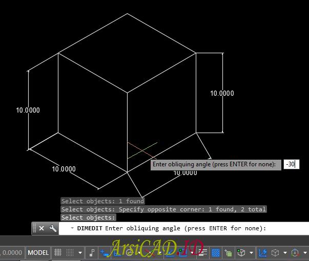 Hal Lain Dalam Membuat Dimensi Isometric Pada Drafting 2D AutoCAD
