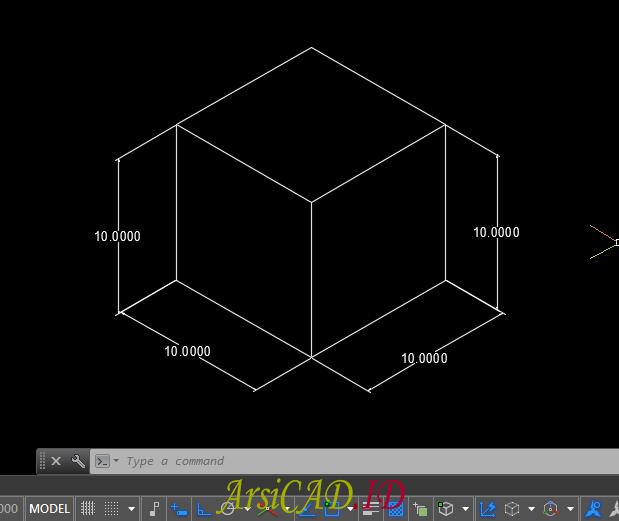 Hasil Akhir Membuat Dimensi Isometric Pada Drafting 2D AutoCAD