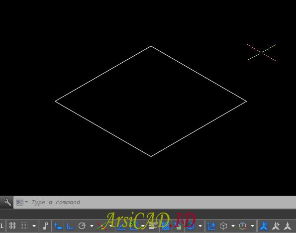 Langkah 5 Membuat Gambar Isometric Di AutoCAD