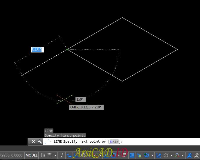 Langkah 6 Membuat Gambar Isometric Di AutoCAD
