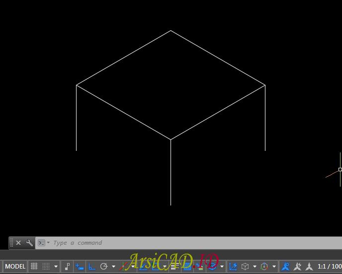 Langkah 7 Membuat Gambar Isometric Di AutoCAD