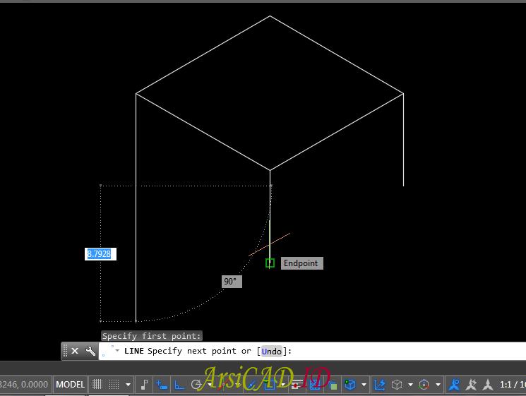 Langkah 8 Membuat Gambar Isometric Di AutoCAD