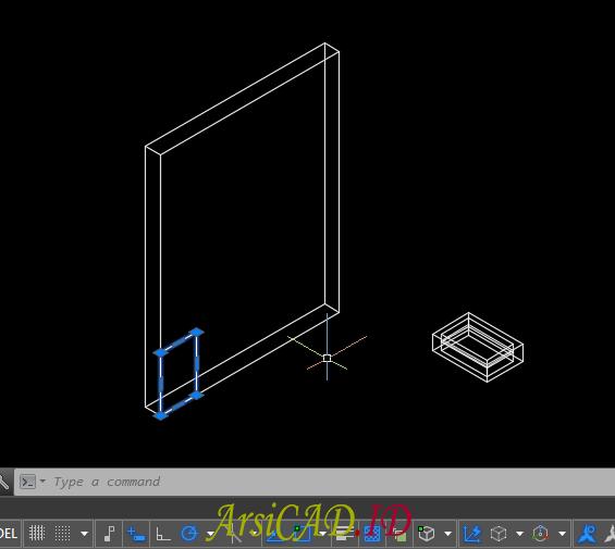 Langkah 1 Membuat Pelubangan Pada Objek 3D Di AutoCAD