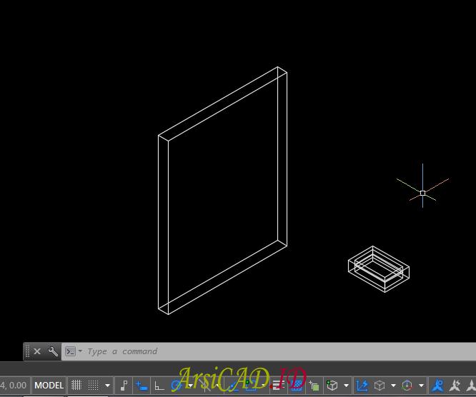 Contoh Kasus Membuat Pelubangan Pada Objek 3D Di AutoCAD
