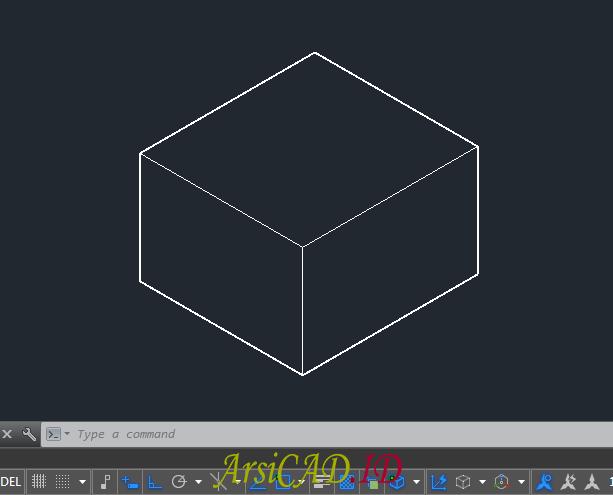 Contoh Gambar Menghitung Massa dan Volume Objek 3D Di AutoCAD