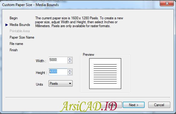 Langkah 10 Membuat Convert Image Beresolusi Tinggi di AutoCAD