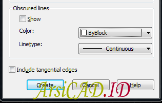 Langkah 5 Membuat Gambar 2D Dari Objek 3D Di AutoCAD