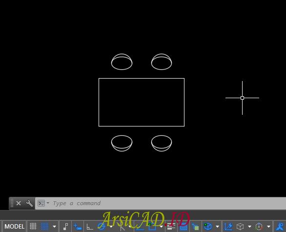 Langkah 1 Cara Membuat Object Block di AutoCAD