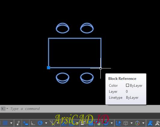 Langkah 9 Cara Membuat Object Block di AutoCAD
