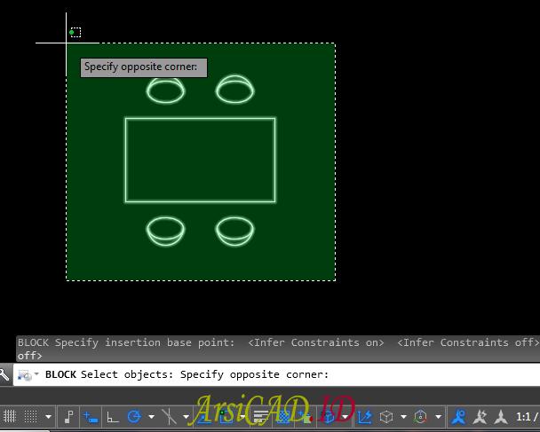 Langkah 6 Cara Membuat Object Block di AutoCAD