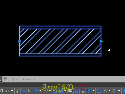 Gambar Hasil Membuat Dynamic Block Dengan Parameter Linear dan Action Stretch