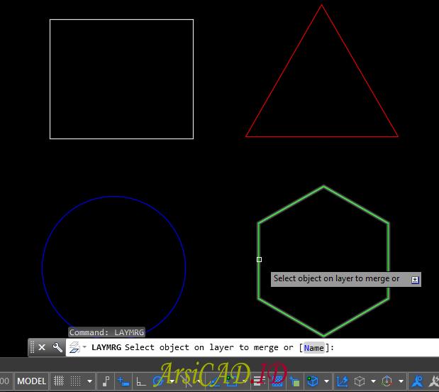 Langkah 2 Menghapus Layer Dengan Tetap Mempertahankan Objeknya Di AutoCAD