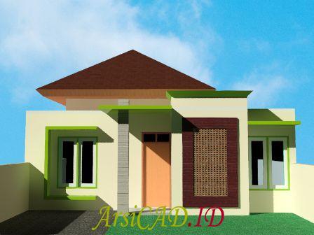 Rumah Minimalis AutoCAD 2