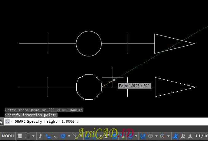 Langkah 12 Membuat Custom Linetype Objek Yang Kompleks Di AutoCAD