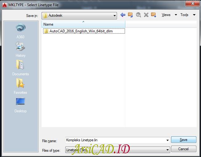 Langkah 14 Membuat Custom Linetype Objek Yang Kompleks Di AutoCAD