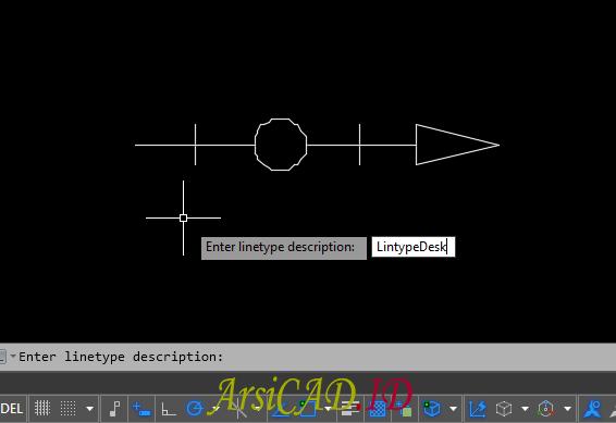 Langkah 16 Membuat Custom Linetype Objek Yang Kompleks Di AutoCAD