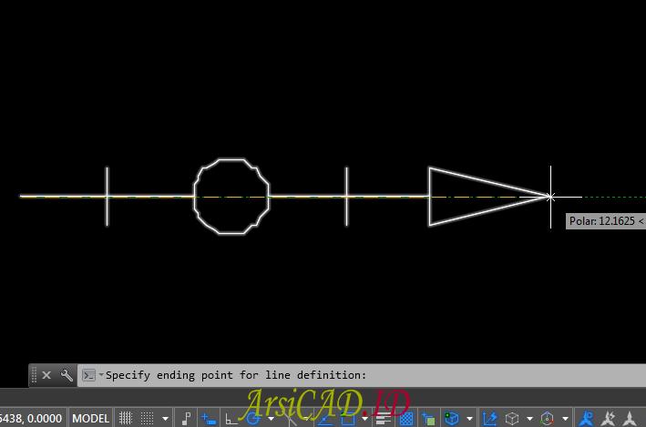 Langkah 17 Membuat Custom Linetype Objek Yang Kompleks Di AutoCAD
