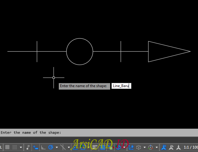 Langkah 4 Membuat Custom Linetype Objek Yang Kompleks Di AutoCAD