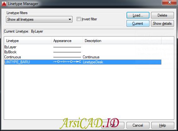 Langkah 2 Memunculkan Custom Linetype Objek Yang Kompleks Di AutoCAD
