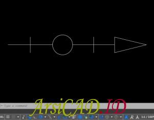 Contoh Kasus Membuat Custom Linetype Objek Yang Kompleks Di AutoCAD