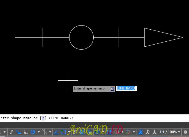 Langkah 10 Membuat Custom Linetype Objek Yang Kompleks Di AutoCAD