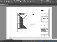 Gambar Hasil Plot di Layout Yang Akan di Print di AutoCAD