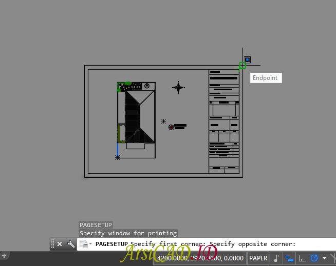 Memilih Area Yang di Plot dan Akan di Print di AutoCAD
