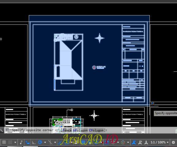 Block Objek Gambar Yang Akan di Print di AutoCAD
