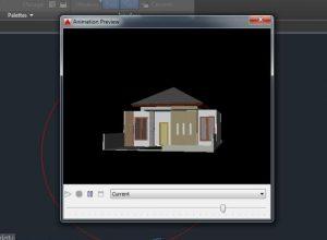 Tampilan Preview Hasil Akhir Membuat Animasi 3D AutoCAD