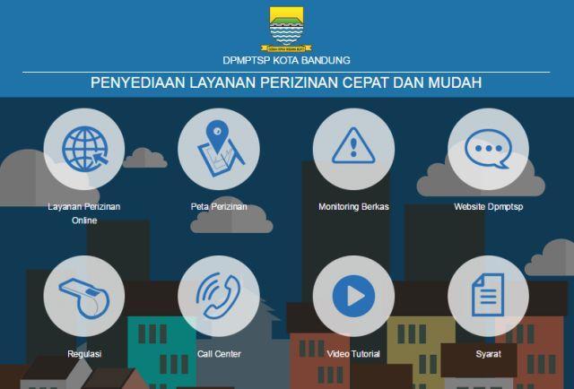 Halaman Situs Pengajuan IMB Online Kota Bandung