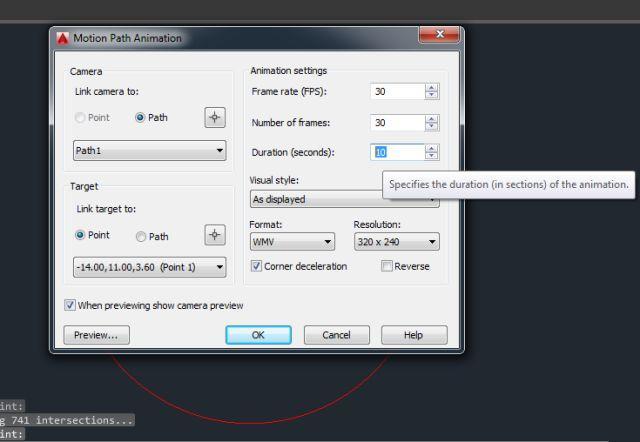 Hasil Langkah 12 Membuat Animasi 3D AutoCAD