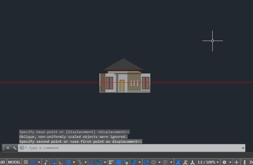 Hasil Langkah 3 Membuat Animasi 3D AutoCAD