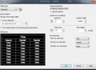 Hasil Langkah 5 Membuat Tabel di AutoCAD