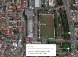Menghitung luas tanah secara online menggunakan google maps